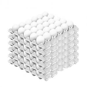 decorativo caja de huevos blancos
